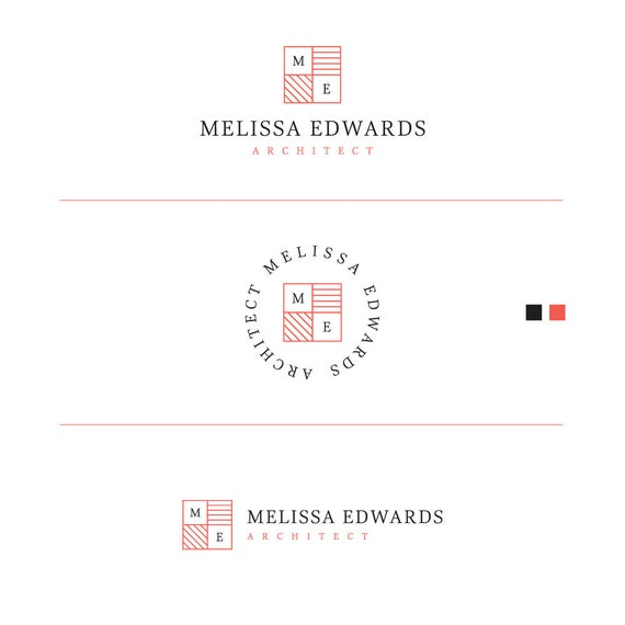 Branding Logo Kit, Minimal Logo, Architect Logo, Modern Logo, Square Logo, Interior Design Logo, Home Decor Logo, Business Stamp Logo, Logo
