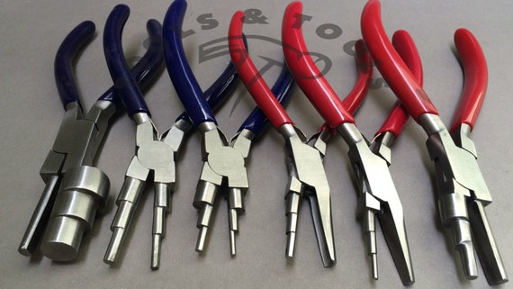 Wrap n Tap 3 stepped forming pliers Multi size bail making 4 x 6 x 8 mm Prestige