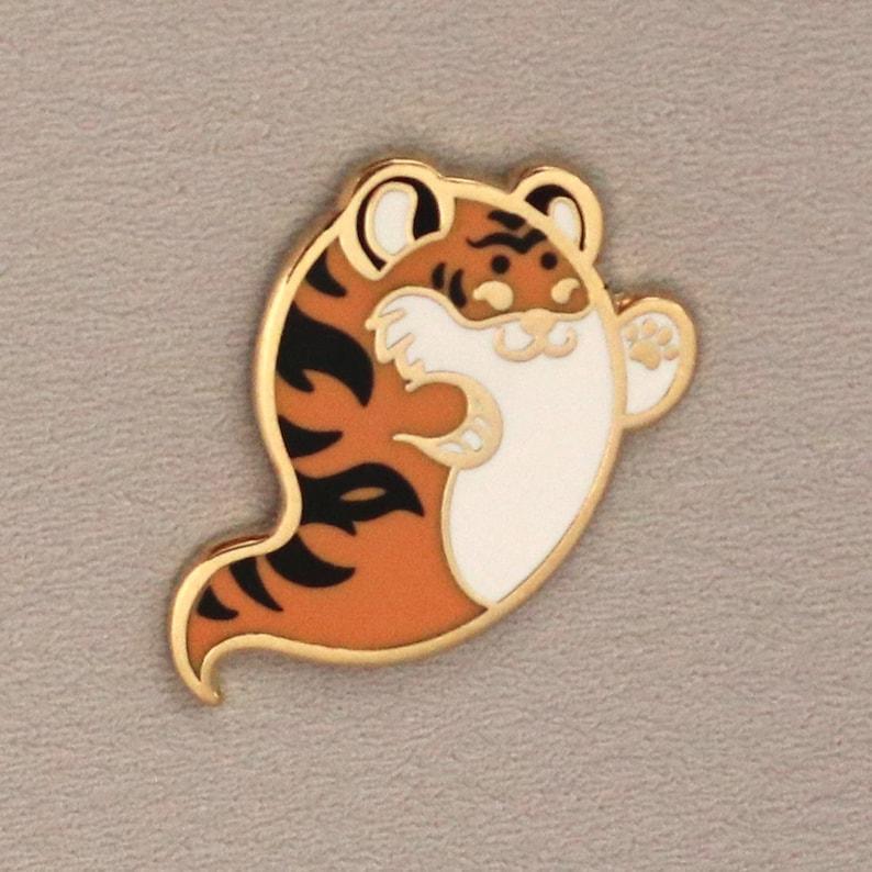 Tiger Ghost Mini Hard Enamel Pin