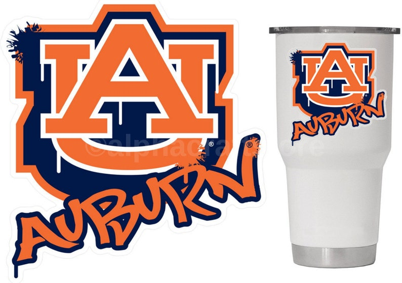 AU Auburn Tigers Premium Vinyl Decal for Phone, YETI, RTIC, Ozark Insulated  Rambler Tumbler Cups 3 5