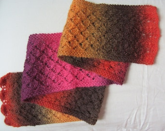 Knit Lace Scarf Wool Multi-color