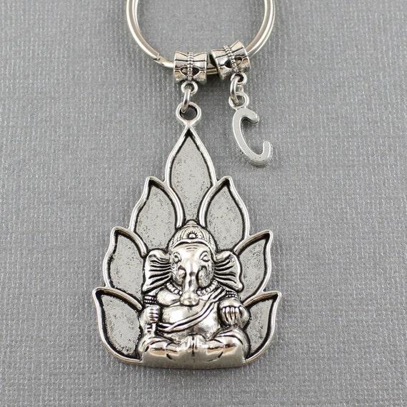 SRA Large Ganesha Keychain Ganesha Elephant Key Ring Yoga  9a39ead5e904