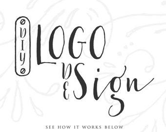 Aquarelle crâne Floral bois de cerf Logo Design Floral Logo personnalisé Logo Design site Web Design Logo Blog Logo entreprise marque Logo Boutique Logo