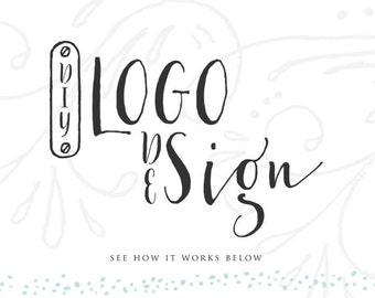 Logo personnalisé aquarelle fleur feuille d'or Logo aquarelle Floral Logo Logo entreprise site de photographie Logo Blog Floral or Logo Design