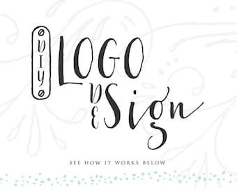 Aquarelle florale bois de cerf Logo Design cerf Logo Logo Design événement mariage photographie Logo site personnalisé Branding Blog Logo Pay As You Go