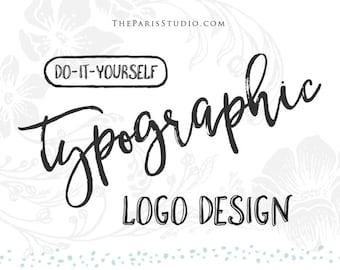 Logo typographique Logo Design texte seulement Logo feuille d'or Logo photographie Logo écriture personnalisé aquarelle texte Logo site Web Logo Blog Logo