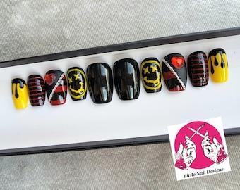 Grunge Nails Etsy