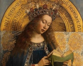The Virgin Mary – Ghent Altarpiece – Jan van Eyck – Medieval/Renaissance – Catholic Art Print