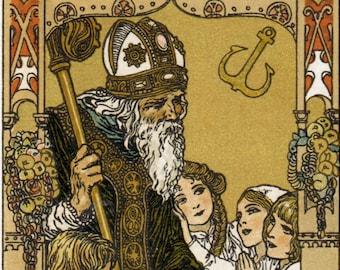 "St. Nicholas – 8.5x11"" – Heinrich Lefler – Catholic Art Print"