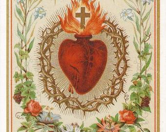 Sacred heart etsy