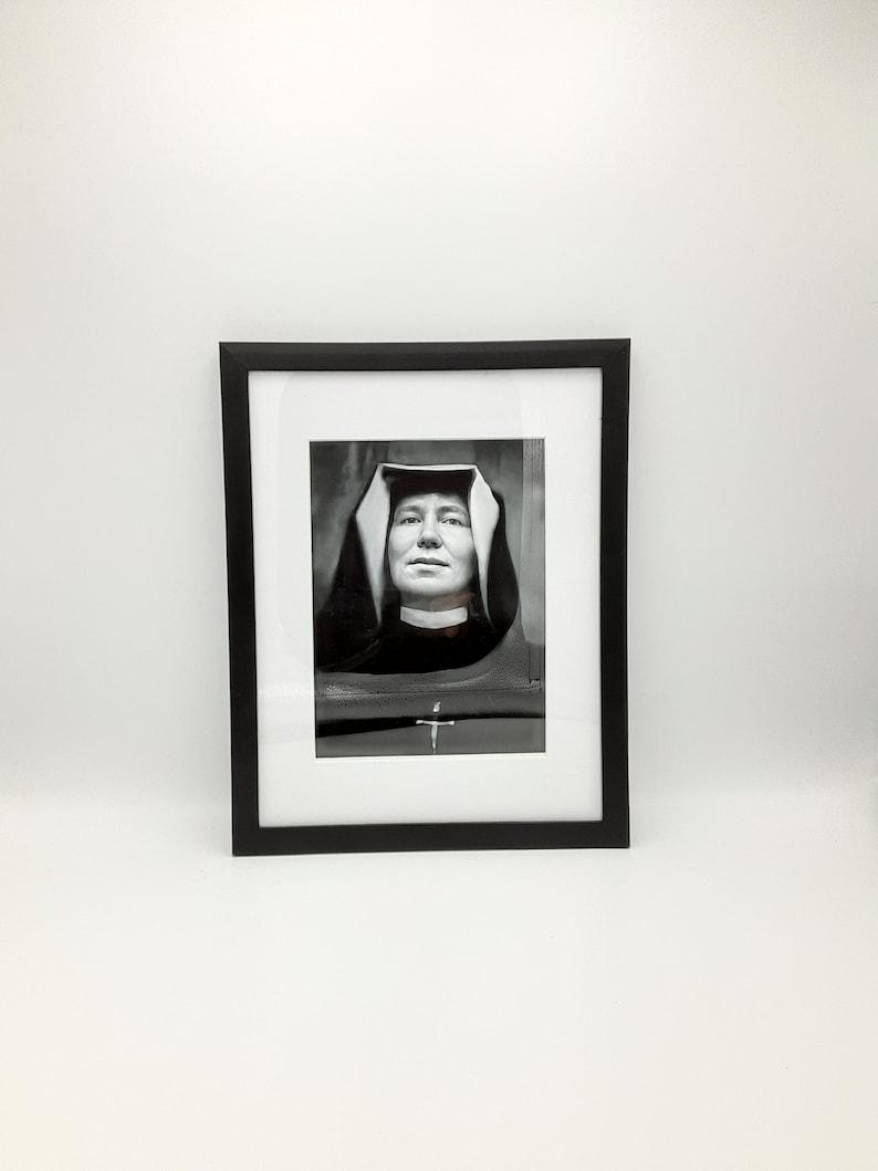 St. Faustina  Exclusive Photo  2 sizes  Catholic Art Print 8.5x11 Black frame