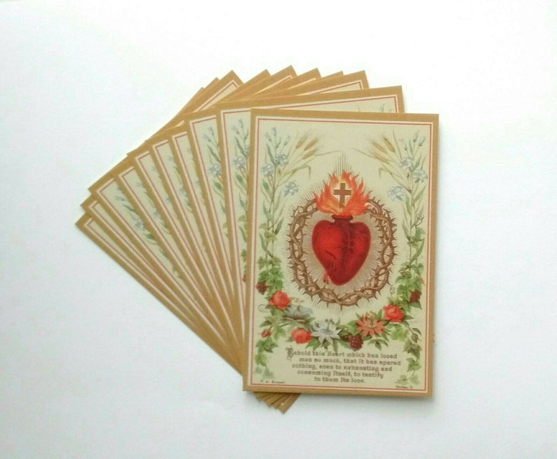 Sacred Heart of Jesus Postcard / Holy Card  pack of 10  image 0