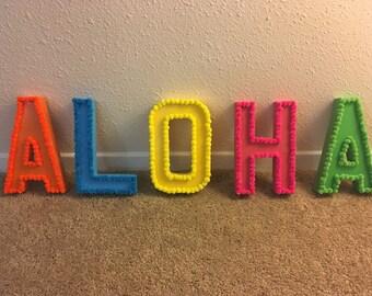 Aloha Letter Art