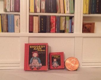 Raggedy Ann miniature, readable book, 1918, John Gruelle, illustrated; 1/6 or 1/12 scale