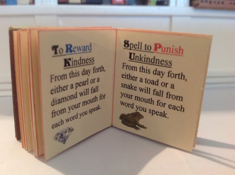 FAIRYTALE SPELLS miniature book illustrated with words of image 0