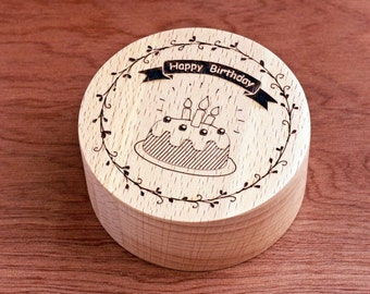 Happy Birthday music box, wind it up, great gift for every one - Birthday Cake