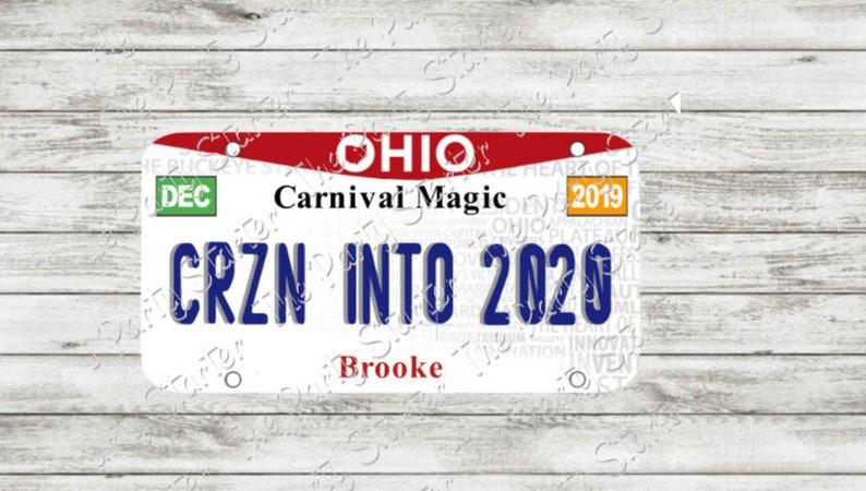 Cruise Door Sign CRUISING INTO 2020 Ohio License plate