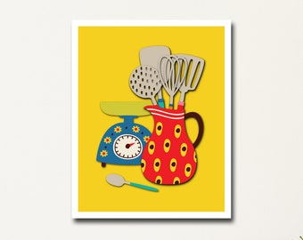 Retro Kitchen Decor, 16x20 Poster