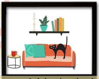 Mid Century Modern Decor, Mid Century Wall Art Print, Atomic Age Home Decor, MCM Room Decor, Mid Century Modern
