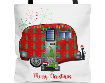 Retro Travel Trailer, Christmas Shopping Tote, Birthday Gifts for Her, Home Decor, Wedding Gifts