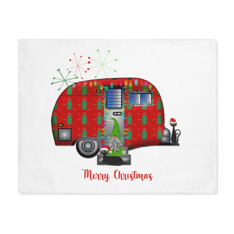 Christmas Clearance Abstract Placemat Fifties Camper image 0