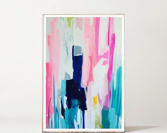 Abstract Floral, Garden of Enid II, Abstract Art Print, Giclee Print