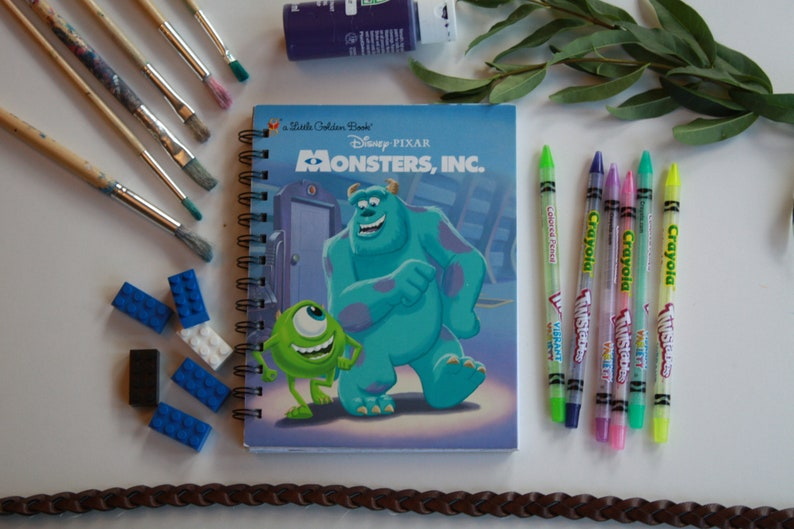 Monsters Inc Storybook Journal Recycled Journal Book Disney Autograph Book