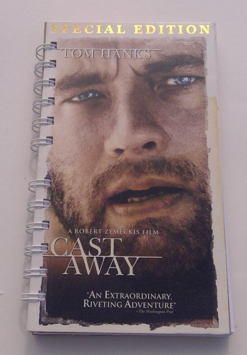 Cast Away VHS notebook, movie notepad, blank notebook, VHS cover, purse  notebook, VHS cover