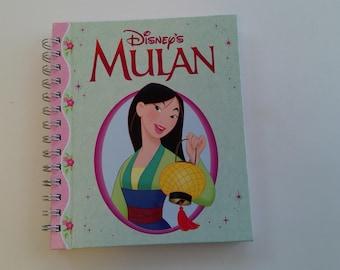 Mulan,  storybook journal, autograph book, book turned journal, blank journal, upcyled journal, notebook, vacation memory book