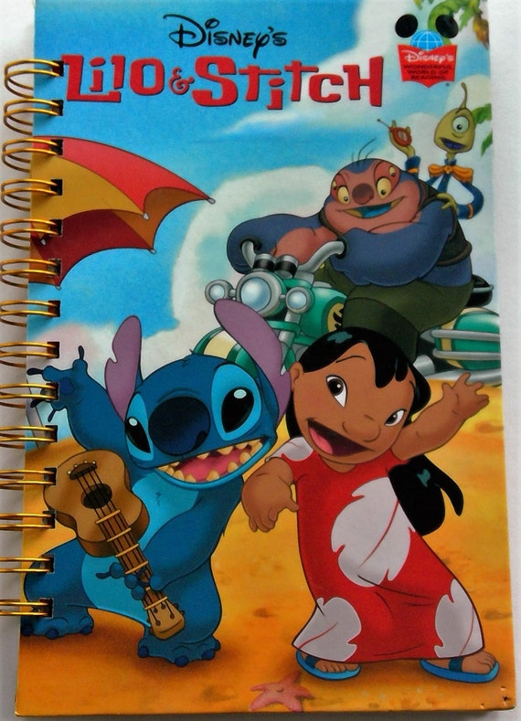Up cycled MINI Note Book Disney Lilo and Stitch
