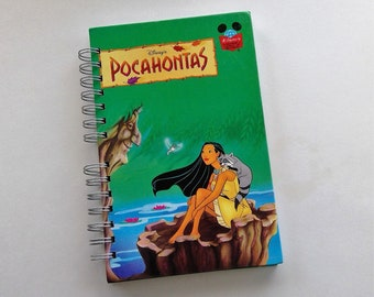 Pocahontas, storybook journal, autograph book, blank journal, upcyled journal, notebook, vacation memory book