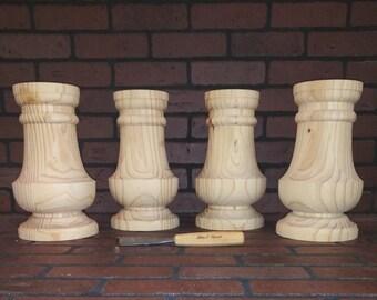 Genuine hand turned farm table island legs 4 x 34 12