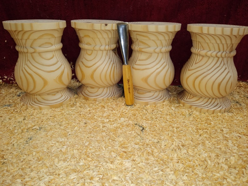 Genuine hand turned extra large balustrade coffee table legs