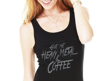 Give Me Heavy Metal and Coffee Women's Tank Dress