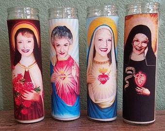 Golden Girls Saint Candle Set