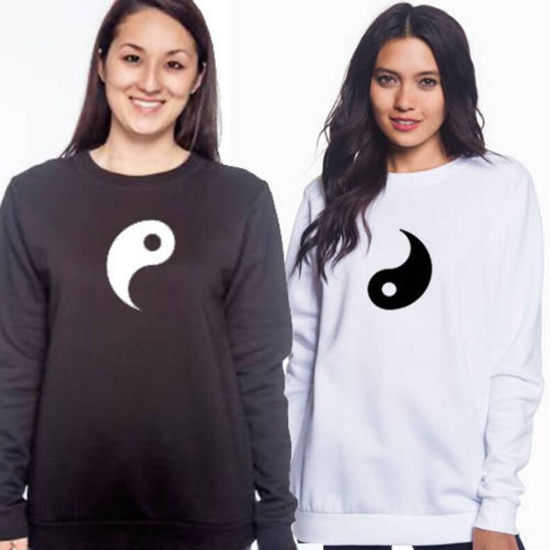 Yin /& Yang Best Friends Sweatshirt Set Best Friend sweatshirts