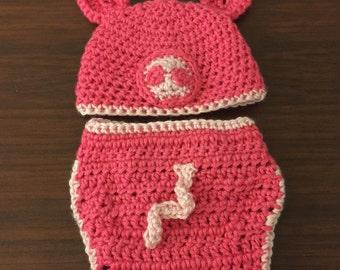 b0f84a8f2bc Crochet Watermelon Hat and Diaper Cover Set Watermelon Hat