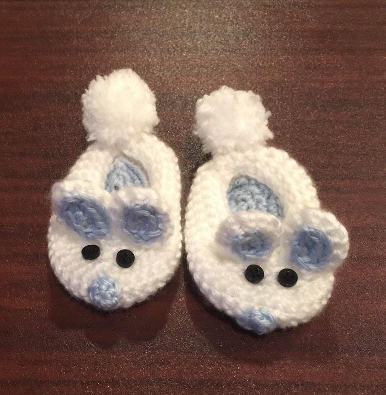 Crochet Bunny Booties-Easter Bunny Booties for Baby Boy Baby Bunny Bootie for Infant-Baby Boy Gift Bunny Slippers-Newborn Photo Prop
