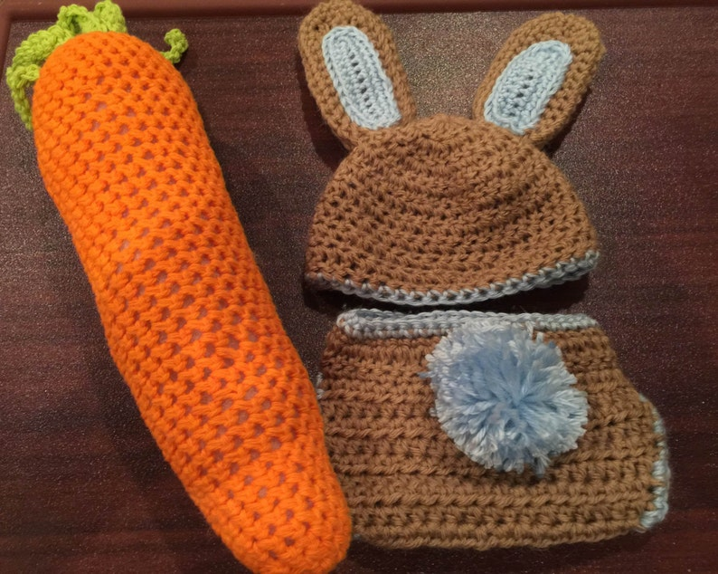 83d772542 Crochet Diaper Cover Set-Easter Bunny Hat for Baby Boy-Bunny Diaper  Cover-Newborn Phot Prop-Baby Bunny Hat for Infant-Baby Boy Gift-Carrot