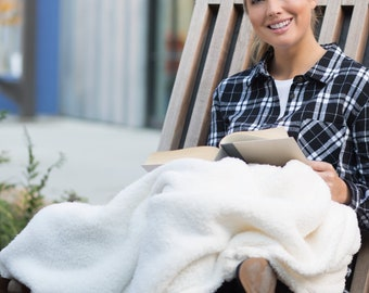Personalized Sherpa Throw Blanket