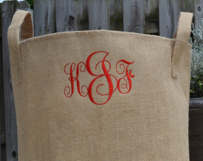 Burlap Storage Bins - 2 Sizes