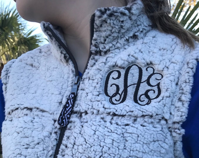 Monogrammed Youth Sherpa Fleece Vest