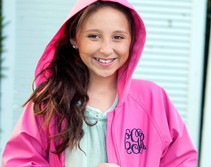 Monogrammed Youth Rain Jacket