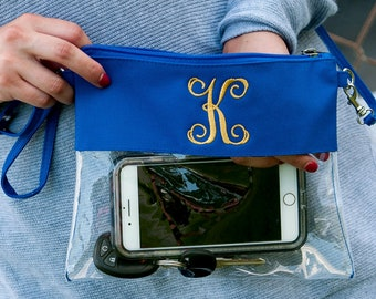 Monogrammed Stadium and Retail Clear Crossbody Purse