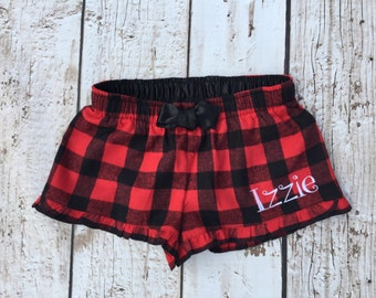 Youth  Buffalo Check Flannel Lounge Shorts