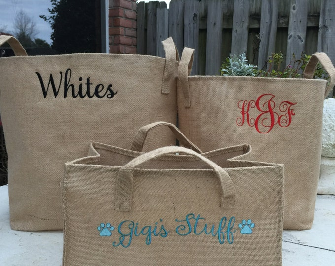 Burlap Storage Bins - 3 Sizes
