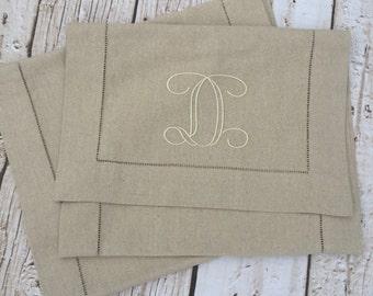Monogrammed Linen Table Runner