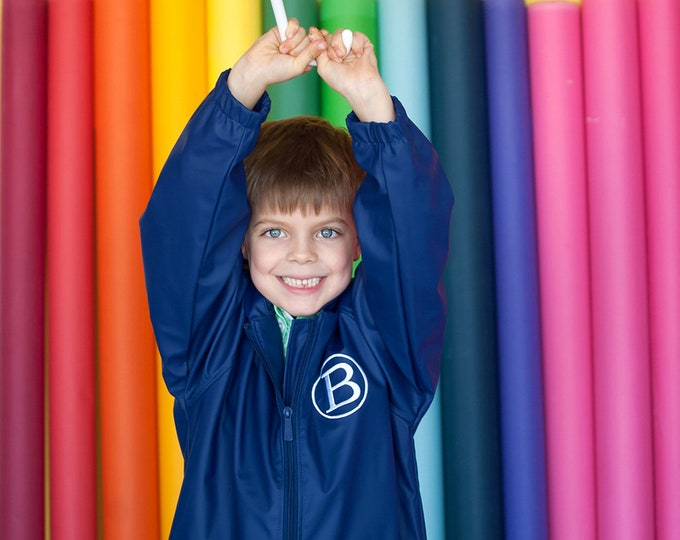 Monogrammed Youth Rain Jacket