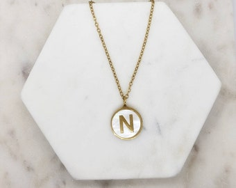 16K gold plated brass Nickel free 1 piece 38x31mm AW-G12 Alphabet W Personalized Necklace Large Initial Pendant Alphabet Letter