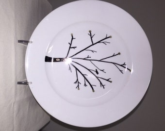 Tree and bird plate sets